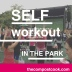 After the Dress for Success Power Walk, it was time for SELF's Workout in the Park. Very crowded but a fun event with loads of fellow fitness fanatics:)