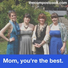 Me, my sisters and my mom three years ago.