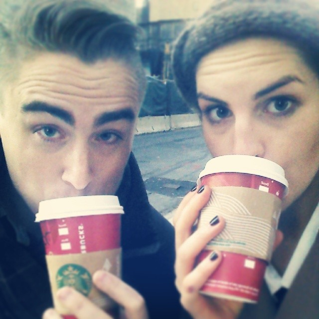 Happy Hour this week at Starbucks resulted in daily trips with my Art Director for holiday drinks!