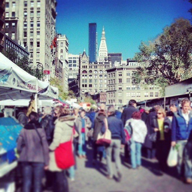 Saturday afternoon at the Union Square market