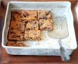 vegan chickpea blondies